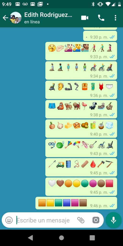 whatsapp beta emoji